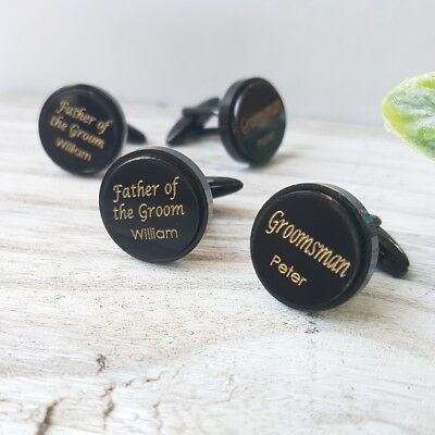 Personalised Wedding Cufflink Groom, Bestman, Father of the Bride, Groomsman