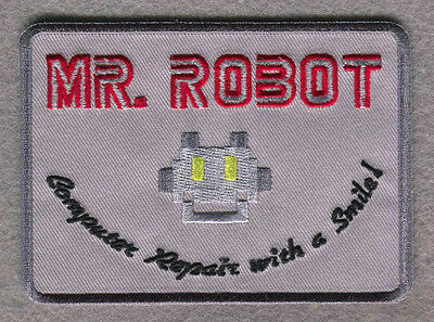 Iron on patch Mr Robot series TV Costume Jacket cosplay Cyber Hacking FBI