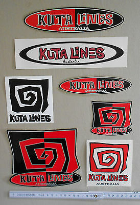 7 Kuta Lines Sticker / Aufkleber des kultigen down under Surflabels