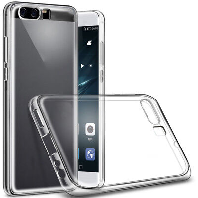 For Huawei P10/Plus Clear Shockproof Silicone TPU Thin Protective Case Cover