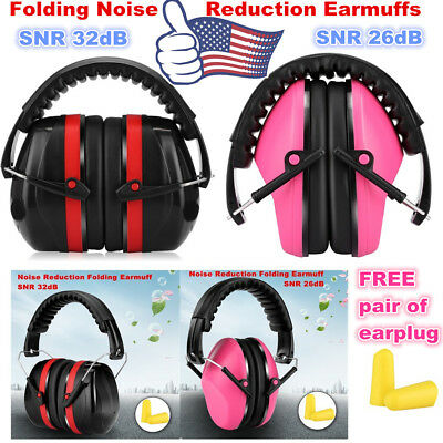 Safety Earmuff Folding Ear Muff Over Head Nrr Hearing Protection Noise Reduction