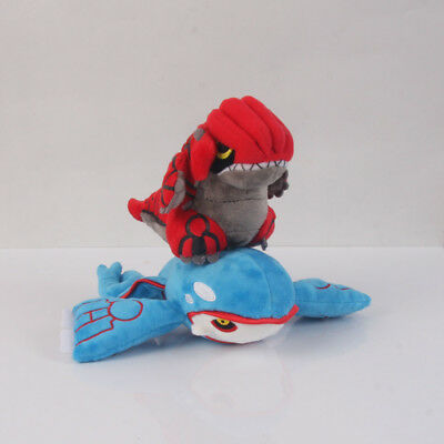 Set of 2 Pokemon Center Groudon & Kyogre Plush Doll Stuffed Toy Xmas Gift