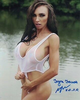 Iryna Ivanova Autograph Signed Photo 8x10 #8 Playboy Playmate Busty