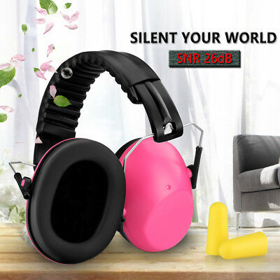 Safety Earmuff Folding Ear Muff Hearing Protection Shooting Noise Reduction PINK