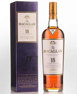 1997 The Macallan Sherry Matured 18 Year Old Single Malt Scotch Whisky (700ml)