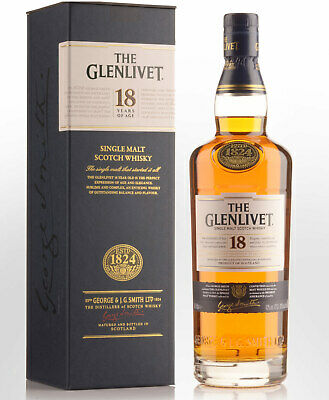 Glenlivet 18 Year Old Single Malt Scotch Whisky (700ml)
