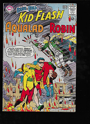 Brave and the Bold #54 Origin 1st Teen Titans Kid Flash & Robin DC 1964 Silver
