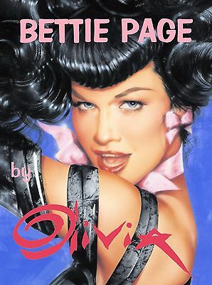 Bettie Page by Olivia Signed by Bettie Herself HC Slipcase 2005 Very Limited OOP