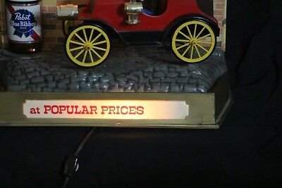 vintage pabst blue ribbon At Popualr Prices Jalopy Car Lighted Sign