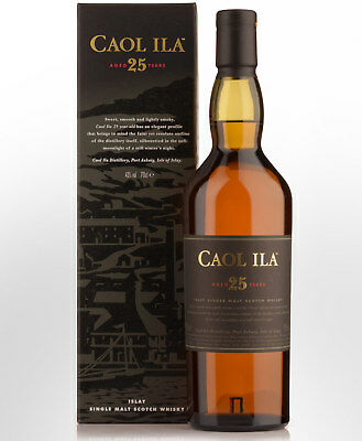 Caol Ila 25 Year Old Single Malt Scotch Whisky (700ml)