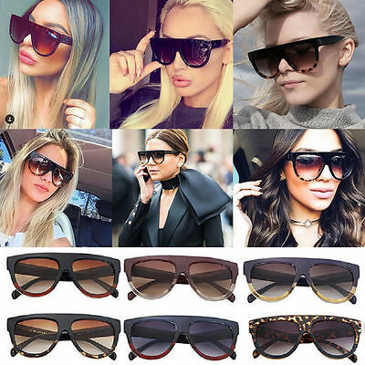 c6d1a0b89427 Ladies DESIGNER Inspired SHADOW SHIELD Flat Top Women SUNGLASSES Celebrity  KIM K