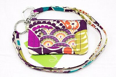 NWT Vera Bradley Lanyard and Zip ID Case Set in Plum Crazy