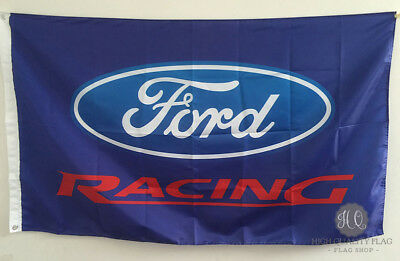 Blue car racing banner Ford flag 3x5ft free shipping Advertising decoration