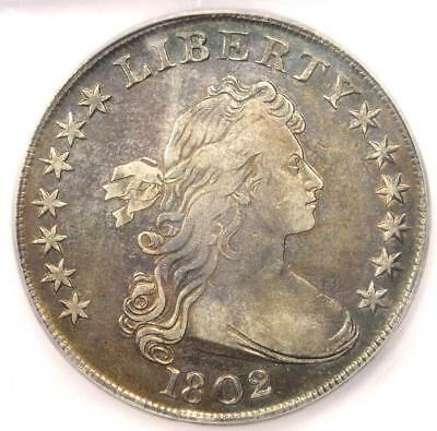 1802 Draped Bust Silver Dollar $1 - Certified ICG XF45 (EF45) - $4,800+ Value!