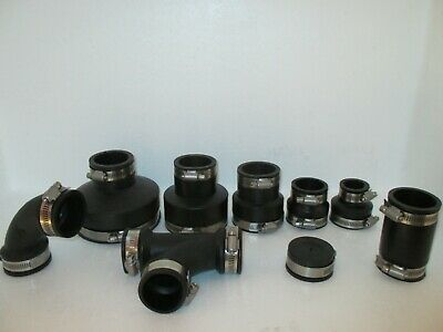 1.5 Inch Rubber Pipe Connectors / Fittings Koi Pond