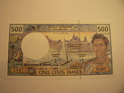 Banknote French Pacific  500 Francs