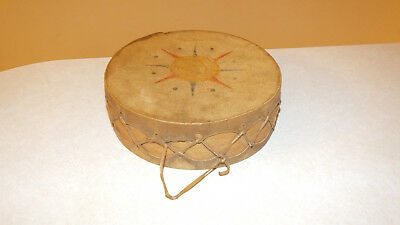 Vintage Small Double-Sided Hand Drum-Native American-Sherman Holbert Collection