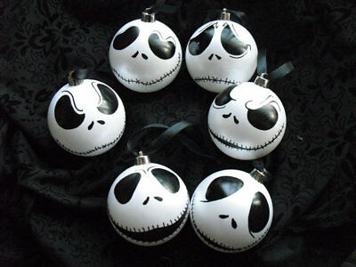 8cm baubles ornaments Nightmare Before Christmas Jack Skellington Christmas deco