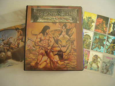 Conan All  Chromium I Ii Iii Cards +Binder+Speciales  Comme Neuf