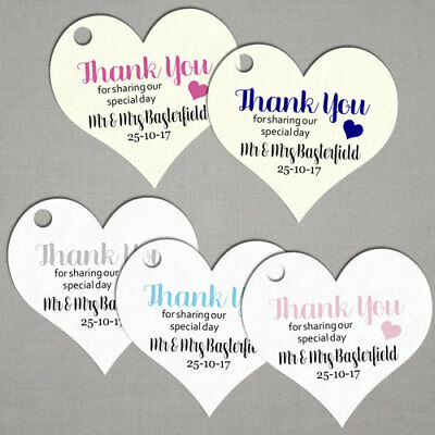 Personalised Wedding Gift Favour Tags Labels Tg056