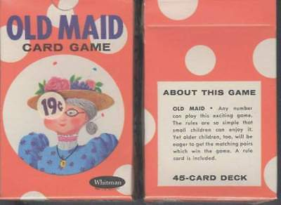 Vintage old maid cards 50 Year old Cards New in the Original unopened box