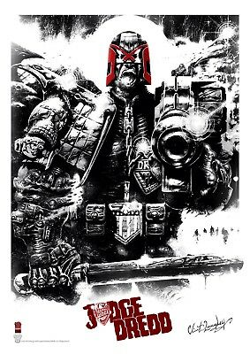 2000Ad Judge Dredd Ltd Edition Prints Clint Langley