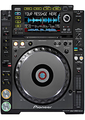 An A4 CDJ 2000 Decks (turntable) Personalised Cake Topper ICING