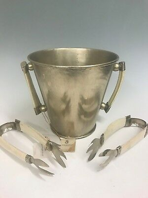 Airedelsur  Champagne Chill bucket with Antler Handles and two antler tongs
