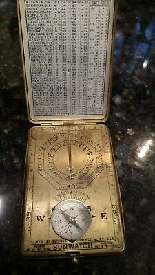 Vintage Antique 1921 Outdoor Supply Co. Sunwatch