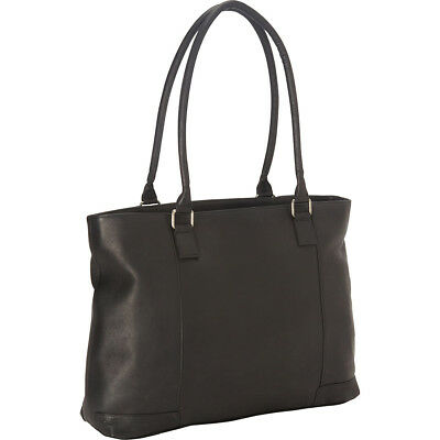 "Royce Leather Women's Vaquetta 15"" Laptop Tote - Black Women's Business Bag NEW"
