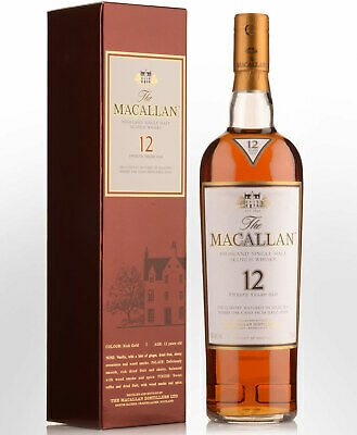 The Macallan 12 Year Old Sherry Matured Single Malt Scotch Whisky (750ml)