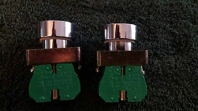 AUTOMATION DIRECT EXC1040 CONTACT BLOCK(LOT OF 2) with push button black