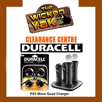 Playstation PS3 PS4 Move & Navigation Controller Quad Charger by Duracell-NEW