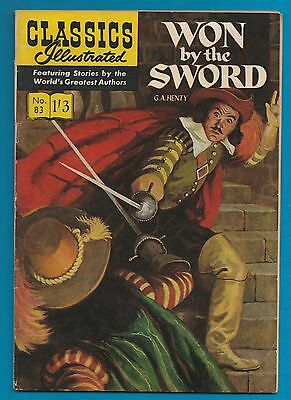 Classics Illustrated Comic Book # 83 Won by the Sword   #761