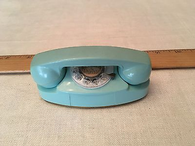 Vintage Advertising Turquoise Miniature Princess Plastic Rotary Phone