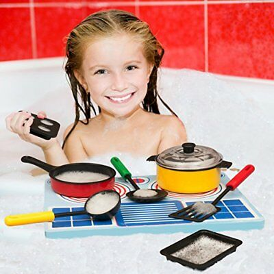 Bath Blocks Floating Tub Toy Cook Set Play Gift Children Toddler Plastic Water