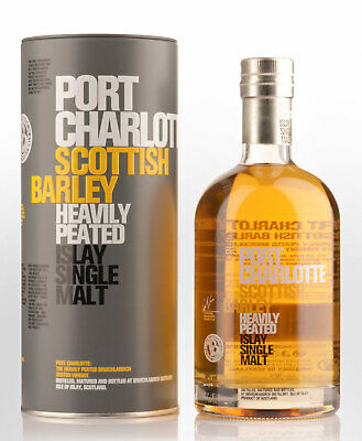 Bruichladdich Port Charlotte Scottish Barley Heavily Peated Single Malt Scotc...