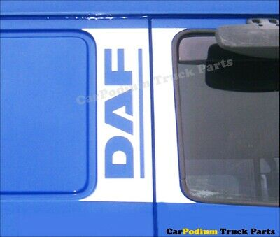 DAF chrome door pillar post trim Stainless Steel
