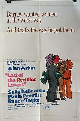 THE LAST OF THE RED HOT LOVER Alan Arkin ORIGINAL 1972 ONE SHEET MOVIE POSTER