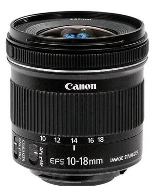 Canon EF-S 10-18mm F4.5-5.6 IS STM Ultra Wide Zoom + free lens hood
