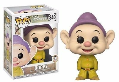 Funko Pop Disney Snow White & The Seven Dwarfs Dopey# 340 New Vinyl Figure