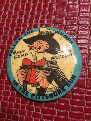 Andy Gump For President pocket mirror Pittsburgh Sun