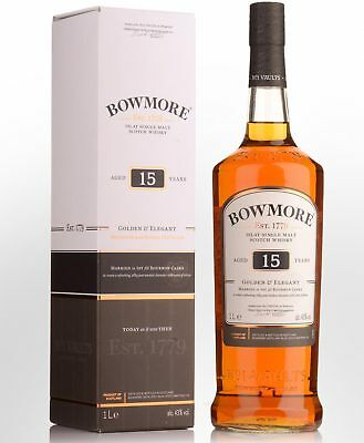 Bowmore Golden & Elegant 15 Year Old Single Malt Scotch Whisky (1000ml)