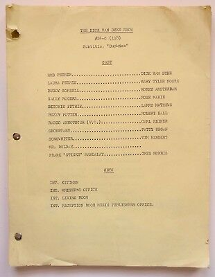 "DICK VAN DYKE SHOW orig vintage 1965 prod SCRIPT for ""Bupkiss"" Mary Tyler Moore"