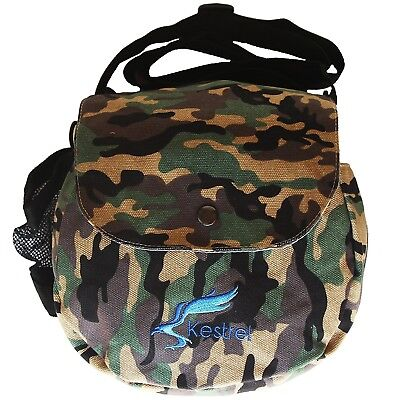 (Green Camo) - Kestrel Disc Golf Bag | Fits 6-10 Discs + Bottle | For Beginner