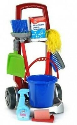 Game / Play Theo Klein Cleaning Trolley, trolley, set, laptop, trolley,