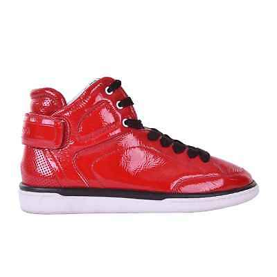 c9e9caf8b20c DOLCE   GABBANA High-Top Patent Leather Sneaker Sneakers Shoes USLER Red  05922