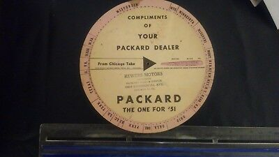 Packard Automotive dealer service wheel great condition Perfect for Collectors