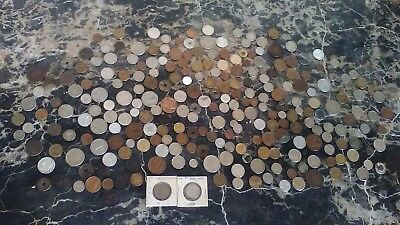 Estate Lot of 256 World Coins 1700's-1970's No Reserve !