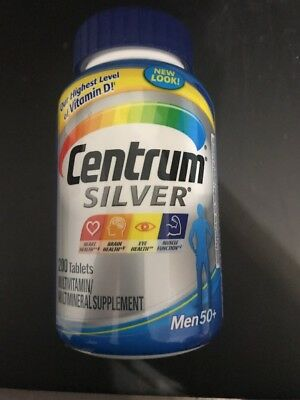 Centrum Silver Multivitamin Supplement Men 50+ 200 Count Men 200 Count [NO VAT]